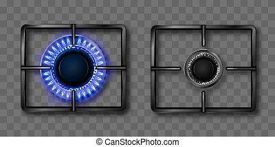 black , gas, vlam, brander, raspen, blauwe , staal