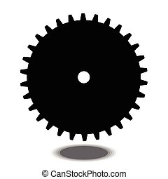 black gear icon