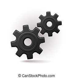 black gears icon