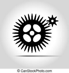 Black gears. Vector Illustration.