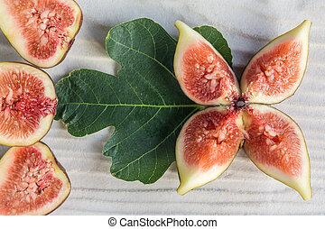 black genoa figs in petal shape