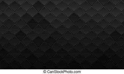 Black geometric squares abstract technology motion background