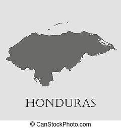 EPS Vector Of Black Honduras Map With Department Borders - Germany map vector