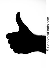 Black gesture THUMBS UP