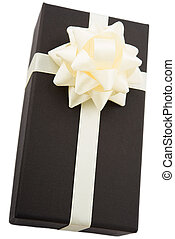 gift box with white bow