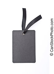 Black gift tag