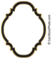 Wooden black gilded frame for mirrors, tapestries and paintings