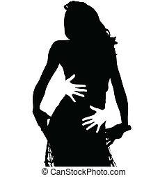 black girl and hug vector illustration