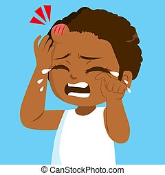Black Girl Forehead Bump Crying
