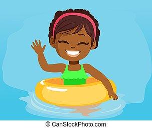 Black Girl Pool Inflatable