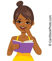 Black Girl Reading Book