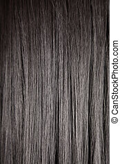 black , glanzend, haar, recht