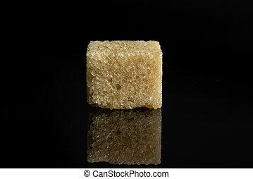 black , glas, bruine suiker, kubus, vrijstaand