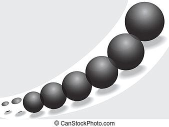 Black glass balls