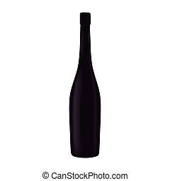 black glass bottle wine design