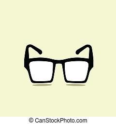 Black glasses icon retro style,vector eps 10 - Black glasses...