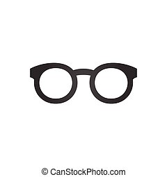 Black glasses icon, vector illustration isolated on white background.