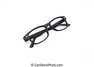 Black Glasses. Isolated on white background
