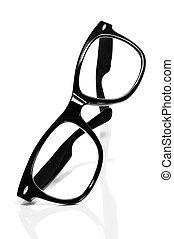 glasses - black glasses on a white background