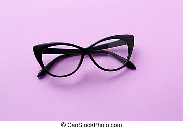 Black glasses with clear lenses