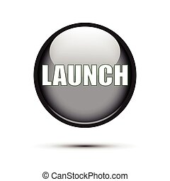 Black glossy Launch button