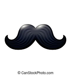 Black glossy mustache