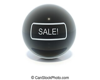 Black glossy sale icon