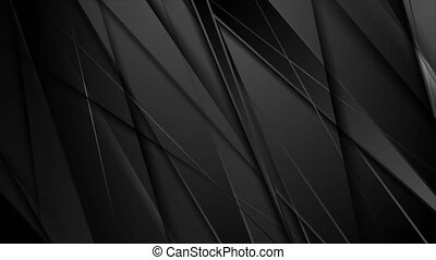 Black glossy stripes abstract tech corporate video animation...