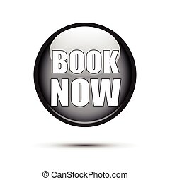 Black glossy with book now text on white