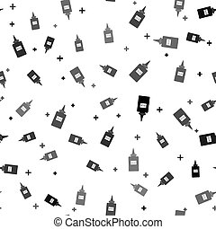 Black Glue icon isolated seamless pattern on white background. Vector Illustration
