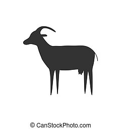 Black goat icon.