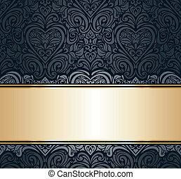 black  & gold invitation design