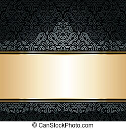 Black & gold luxury background