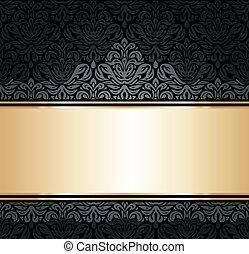Black & gold luxury background