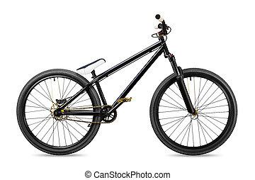 black gold slopestyle dirt jump bike