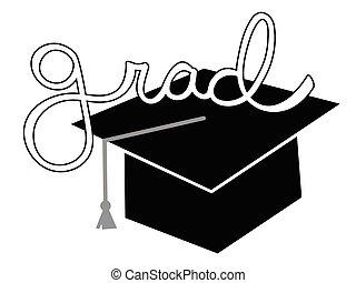 Black Grad Cap