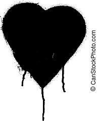 Black Graffiti heart