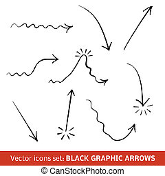 Black graphic arrows set. Vector illustration for your...