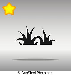 black Grass Icon button logo symbol concept high quality
