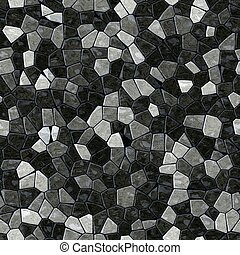 black gray marble irregular plastic stony mosaic seamless pattern texture background with dark grout