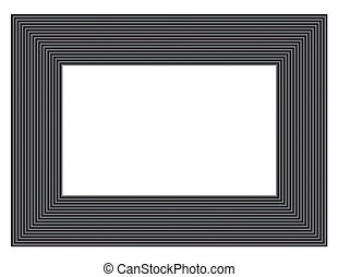 black & gray picture frame