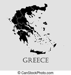 Black Greece map