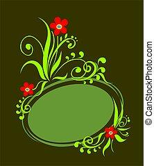 Black-green frame