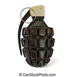 grenade - black grenade on white background