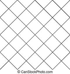 Black Grid White Diamond Background