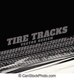 black grunge background with tire track marks