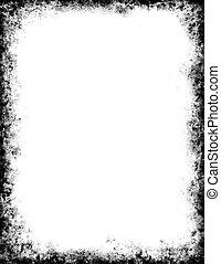 Black Grunge Frame - A gray and black frame with grunge...