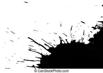 grunge ink - black grunge ink splash on white paper
