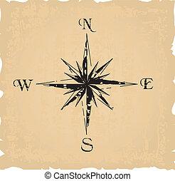 black , grunge, kompas
