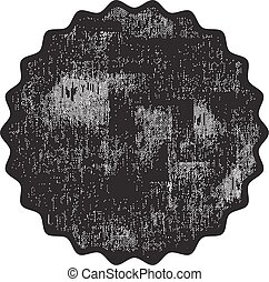 Black grunge rubber stamp on a white background